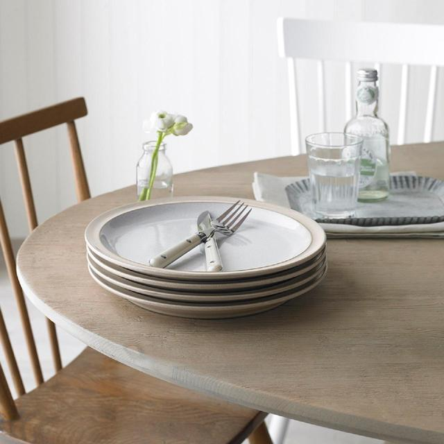 Denby Elements Dinner Plate Set 265cm Natural 4 Per Pack From Ocado