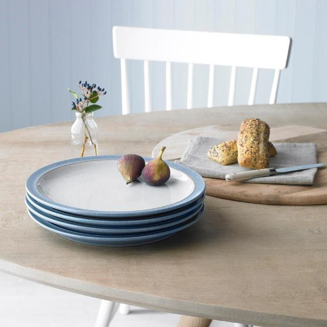 Denby Elements Dinner Plate Set 265cm Blue 4 Per Pack From Ocado