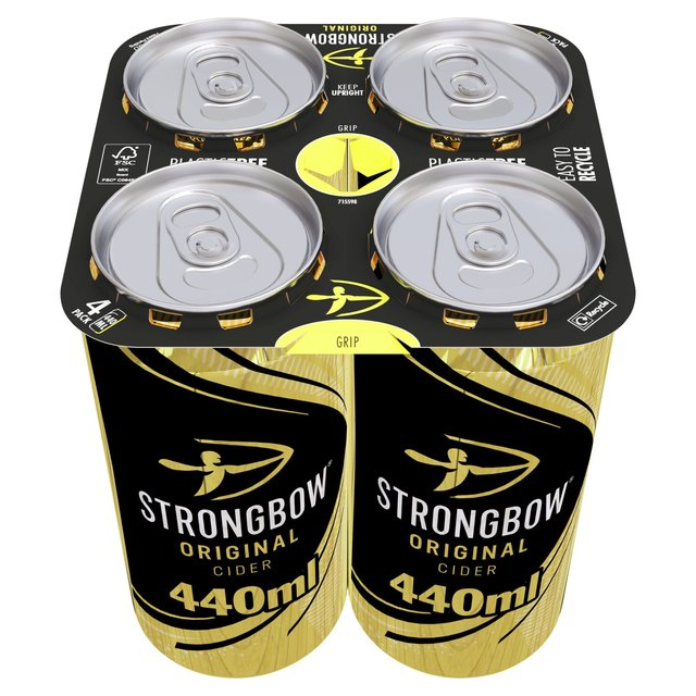 ocado strongbow cider cans 4 x 500ml product information. Black Bedroom Furniture Sets. Home Design Ideas
