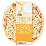 Ocado Thin Crust Cheese Feast Pizza