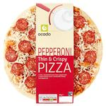 Ocado Thin Crust Pepperoni Pizza