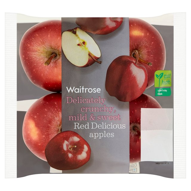 Waitrose Red Delicious Apples Selection 4 Per Pack From Ocado