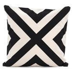 Raine & Humble Cross Monochrome Cushion, Black