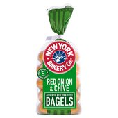 New York Bakery Co. Red Onion & Chive Bagel