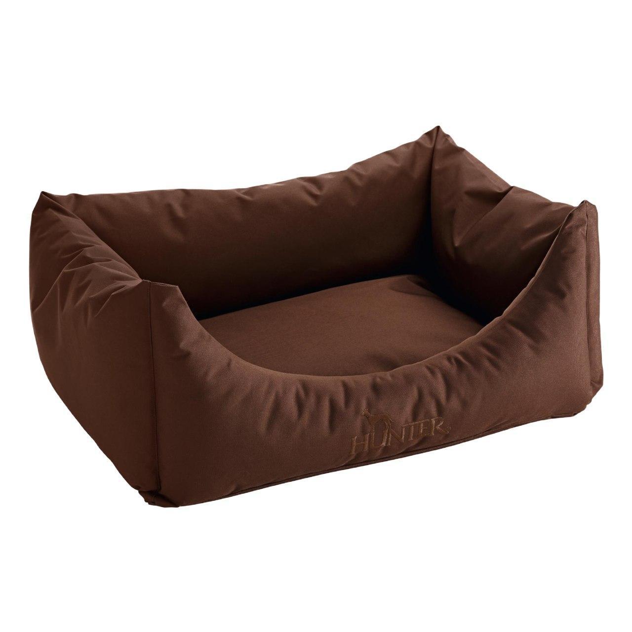 An image of Hunter Dog Sofa Antibacterial Brown 60x45cm