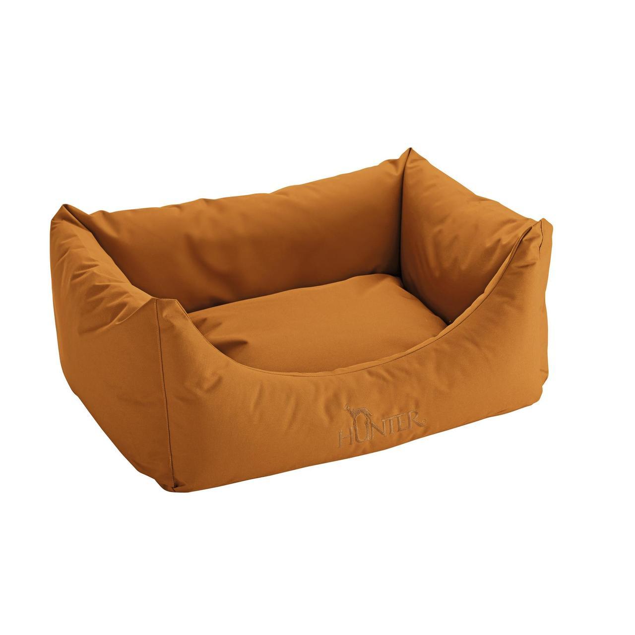 An image of Hunter Dog Sofa Antibacterial Caramel 60x45cm