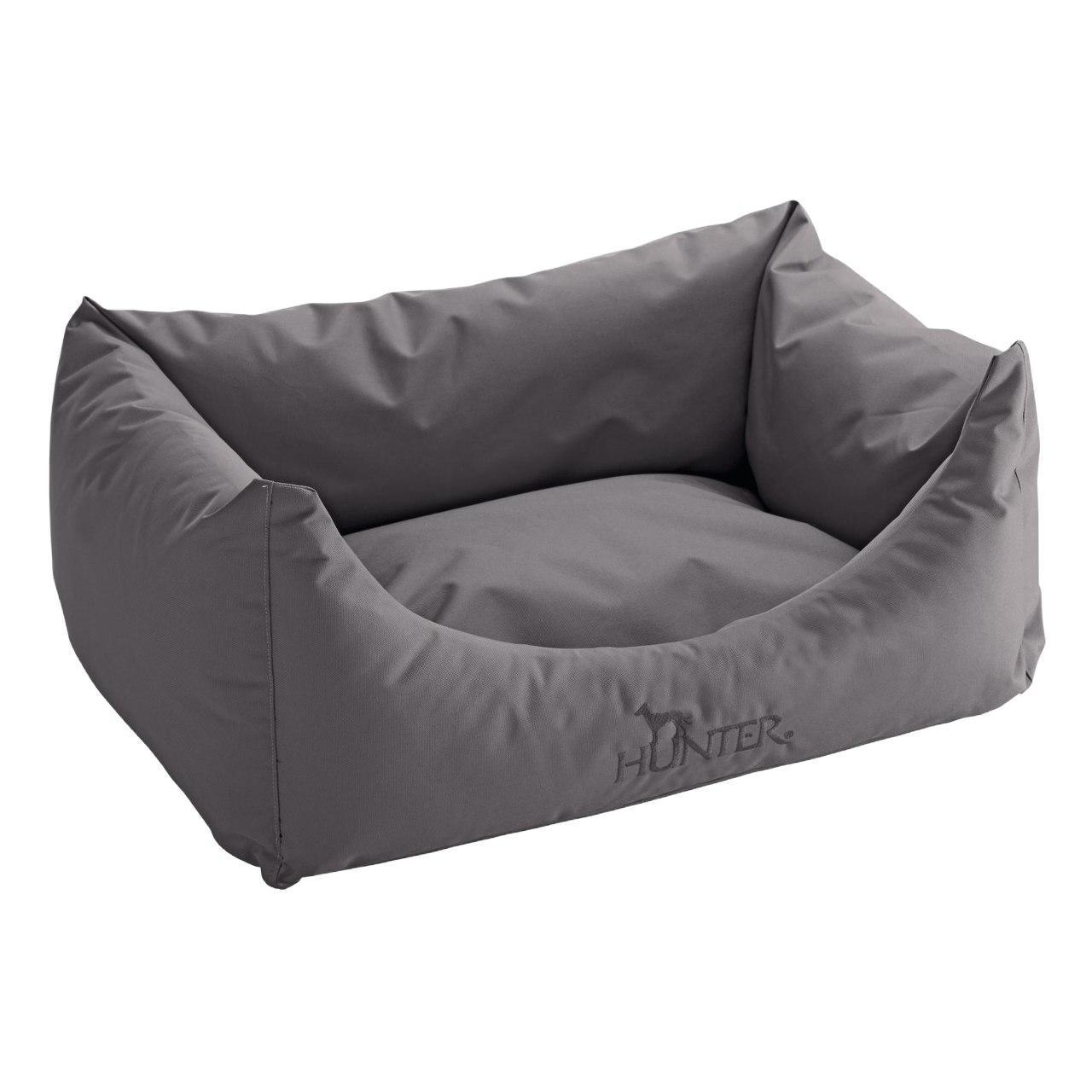 An image of Hunter Dog Sofa Antibacterial Grey 60x45cm