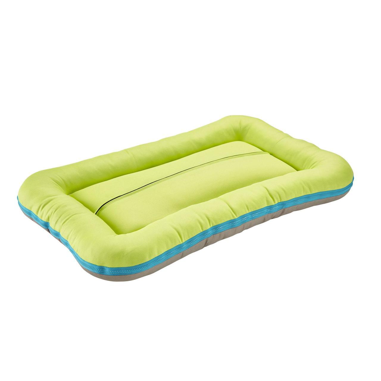 An image of Hunter Dog Cushion Milo Taupe/Lime