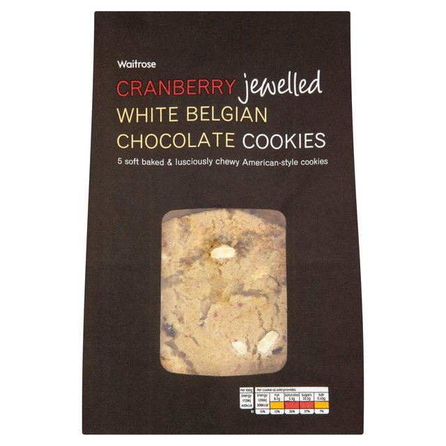 Waitrose Cookies Cranberry & White Chocolate