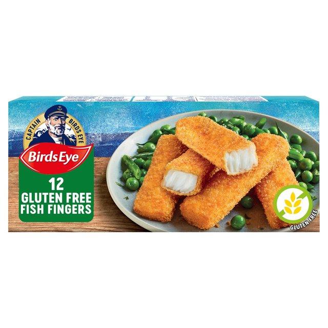 Birds Eye 12 Gluten Free Fish Fingers Frozen 360g From Ocado
