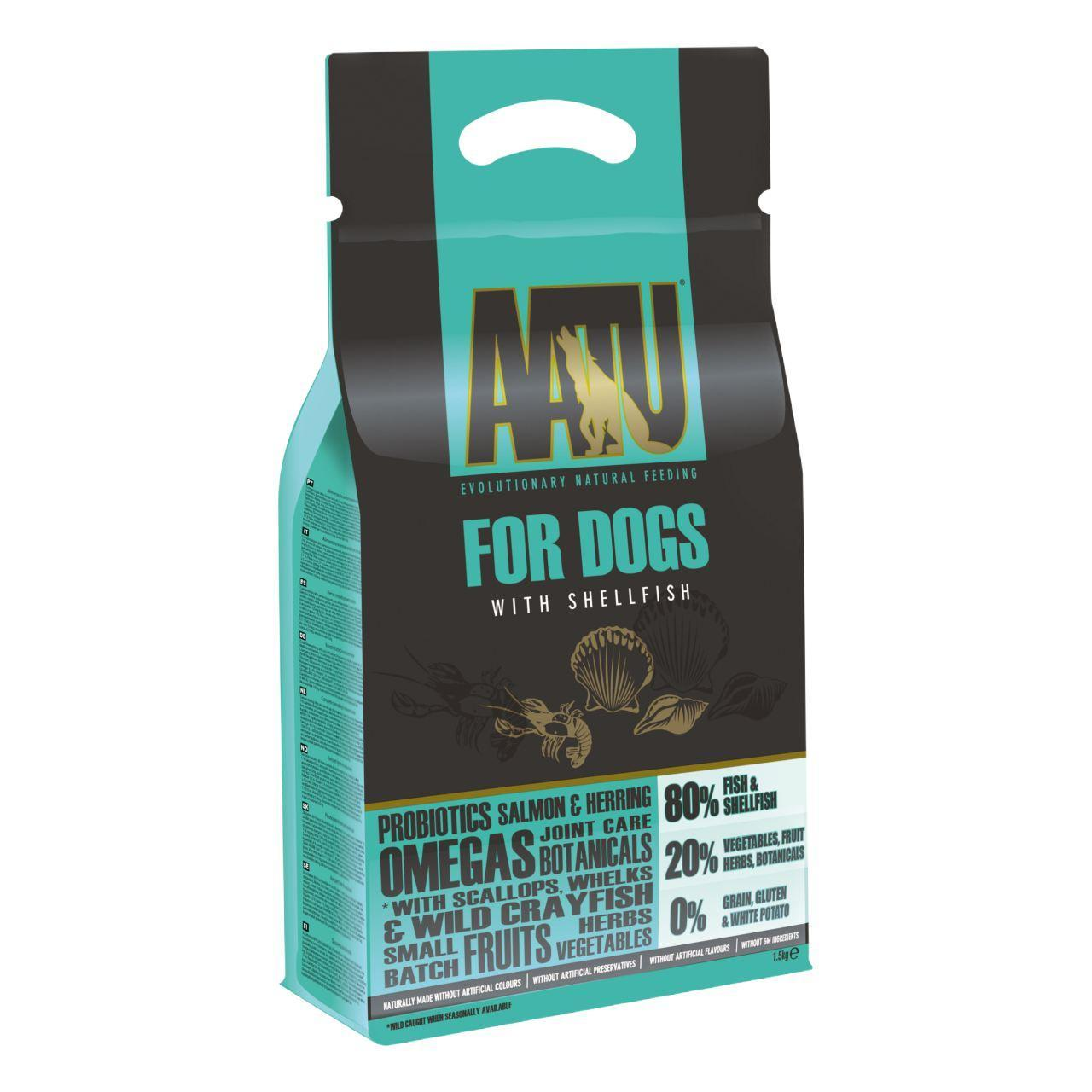 An image of AATU 80/20 Shellfish Complete Grain Free Dry Dog Food