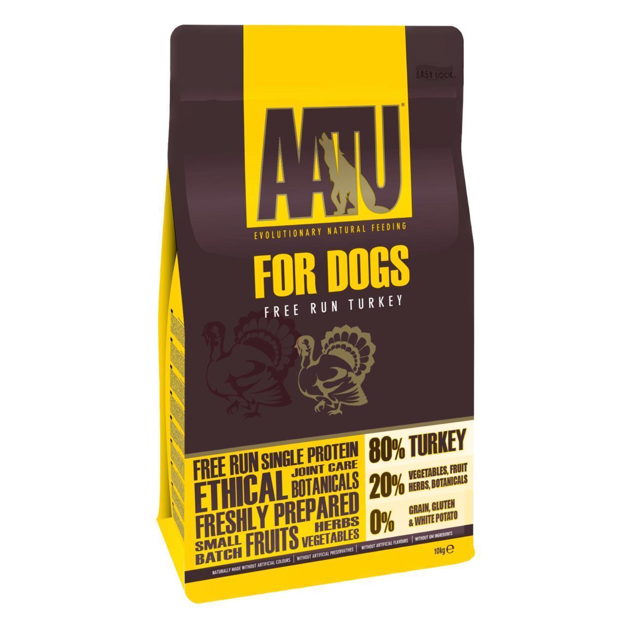 An image of AATU 80/20 Turkey Complete Grain Free Dry Dog Food