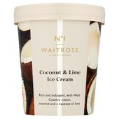 Waitrose Coconut & Lime Ice Cream