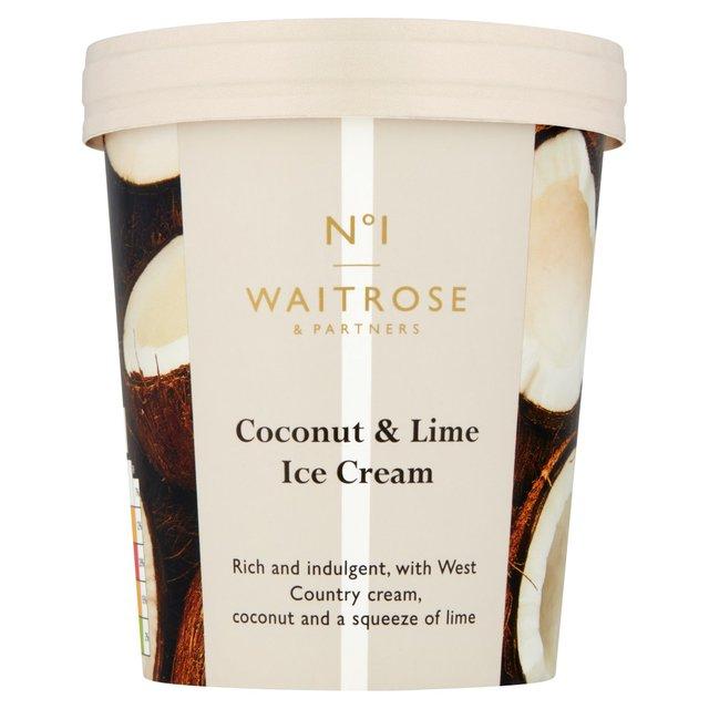 Waitrose 1 Coconut Lime Ice Cream Ocado