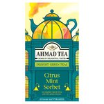 Ahmad Tea Citrus & Mint Sorbet Dessert Green Tea Pyramid Teabags