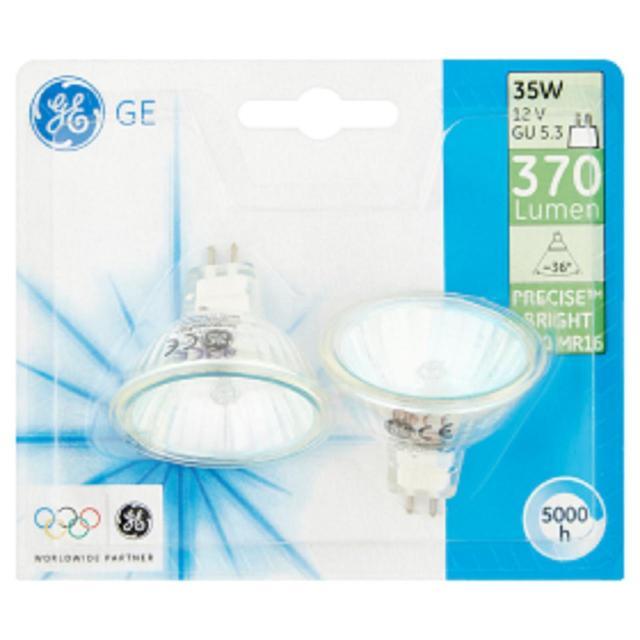 halogen spotlight bulb mr16 gu5 3 35w 2 per pack from ocado. Black Bedroom Furniture Sets. Home Design Ideas