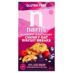 Nairn's Gluten Free Oats, Blueberry & Raspberry Chunky Biscuit Breaks