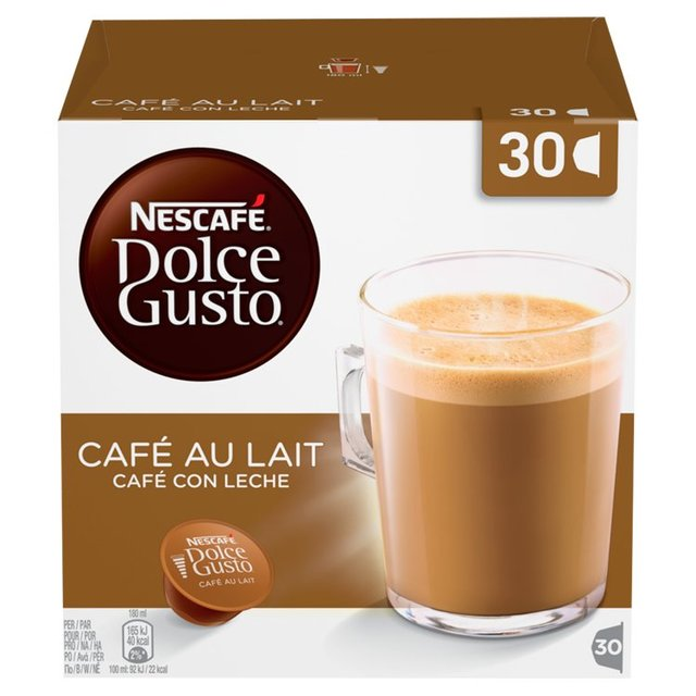 nescafe dolce gusto cafe au lait capsules 30 per pack from. Black Bedroom Furniture Sets. Home Design Ideas