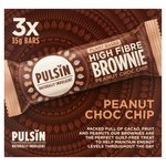Pulsin Peanut Choc Chip Raw Choc Brownie Bars Mulitpack