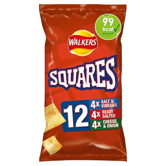 Walkers Squares Variety Snacks 22g x