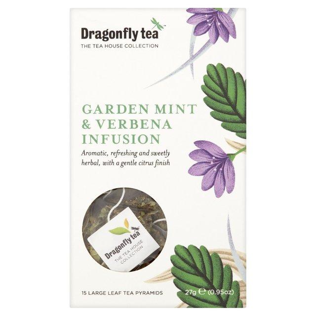 Dragonfly Garden Mint & Verbena Tea Pyramid Bags | Ocado