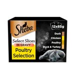 Sheba Select Slices Cat Pouches Poultry in Gravy