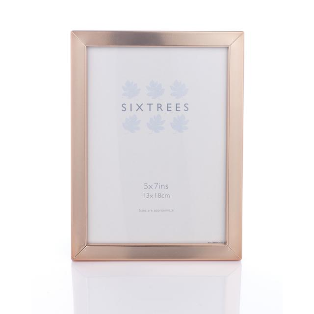 Sixtrees Square Edge Frame 5x7, Copper from Ocado