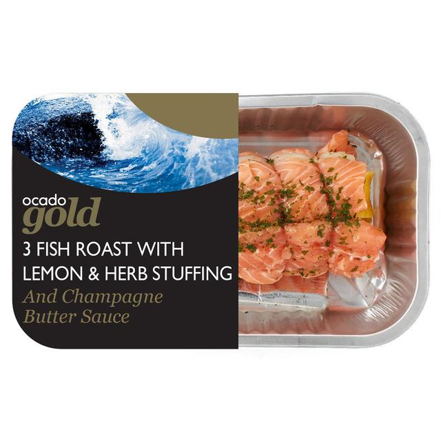 Ocado Gold 3 Fish Roast with a Champagne Sauce