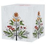 Waitrose Christmas Tree Extra Soft Decorated Facial Cube