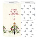 Waitrose Christmas Extra Soft Decorated Toilet Tissue