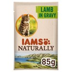 Iams Naturally Adult Cat Pouch with Lamb