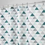 InterDesign Triangles Shower Curtain, Deep Teal & Mint