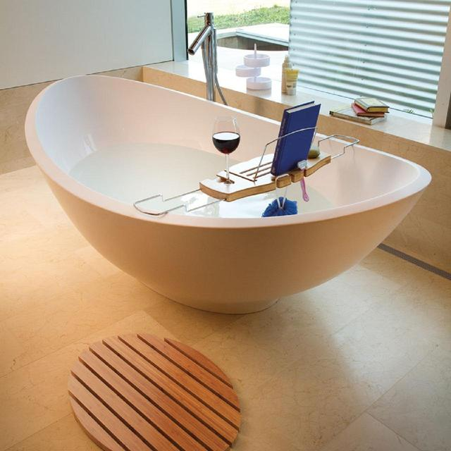 Umbra Aquala Bathtub Caddy, Natural from Ocado