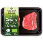 Pure Irish Organic 2 Beef Fillet Steaks