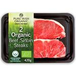 Pure Irish Organic 2 Sirloin Steaks