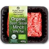 Pure Irish Organic Beef Steak Mince 15% Fat