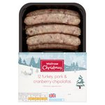 Waitrose 12 Turkey, Pork & Cranberry Chipolatas