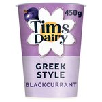 Tims Dairy Greek Style Blackcurrant Yogurt