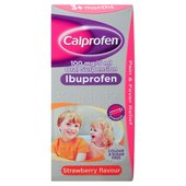 Calprofen Strawberry Ibuprofen Liquid, 3+mths