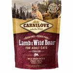 Carnilove Grain Free Adult Lamb & Wild Boar Sterilised Dry Cat Food