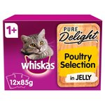 Whiskas 1+ Casserole Cat Pouches Poultry in Jelly