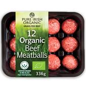 Pure Irish Organic 12 Beef Meatballs