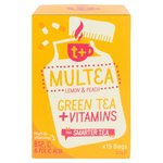 t + Multea Vitamin Green Tea Bags with Lemon & Peach
