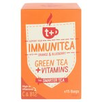 t + Immunitea Vitamin Green Tea Bags with Orange & Blueberry