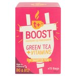 t + Boost Vitamin Green Tea Bags with Raspberry & Pomegranate