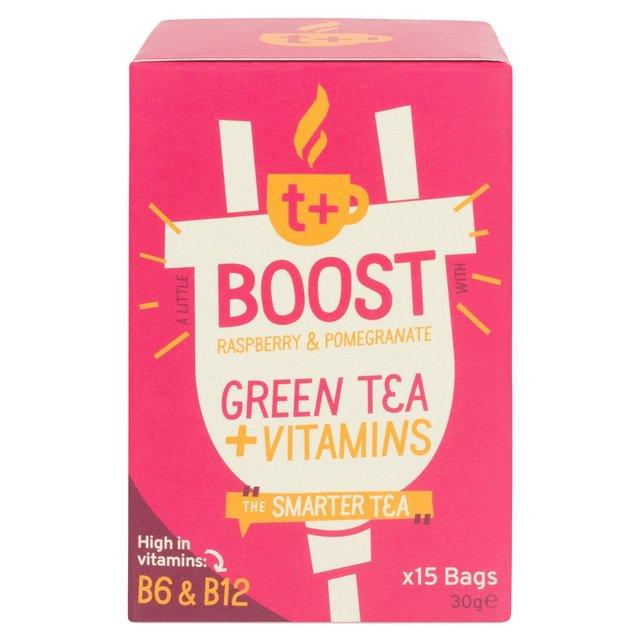 t boost vitamin green tea bags with raspberry pomegranate 15 per