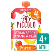 Piccolo Organic Banana, Strawberry & Peach with Mint