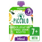 Piccolo Organic 3 Grain Risotto with Basil Pesto