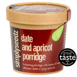 Simplyseedz Porridge Oats Date & Apricot High Protein On The Go Breakfast