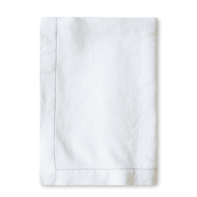 The Linen Works White Hemstitch Tablecloth 160X275cm